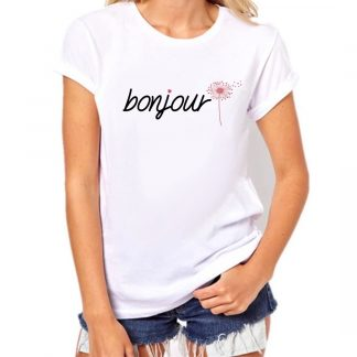 BONJOUR diente de leon camiseta moda mujer