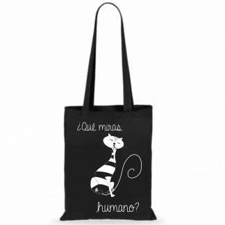 bolsa de tela gato que miras humano