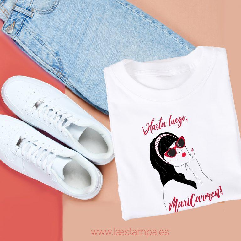 hasta luego maricarmen camiseta para hombre o mujer o unisex la camiseta más vendida