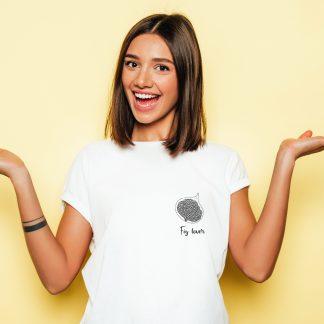 camiseta fig lover minimalista higo camiseta blanca
