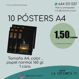 10 posters color impresion