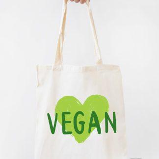 bolsa de tela natural vegan