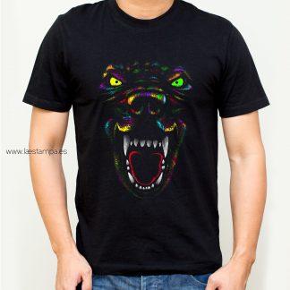 tiger multicolor camiseta hombre unisex