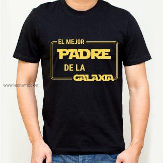 camiseta hombre el mejor padre de la galaxia