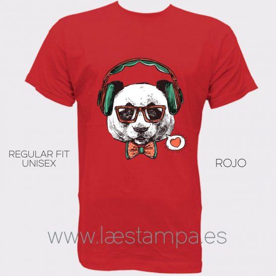 camiseta panda hipster hombre mujer unisex