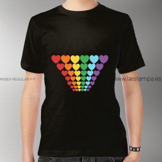 pride orgullo LGTBI camiseta unisex binario cuores