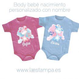 body bebe baby shower nacimiento personalizado con nombre