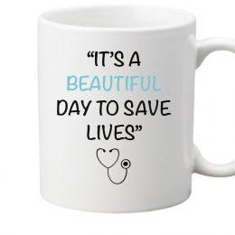 taza its a beautiful day to save lives sanidad anatomia de grey