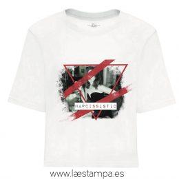 camiseta cropped mujer narcissistic