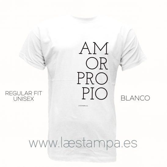 camiseta manga corta blanca amor propio frases unisex mujer hombre