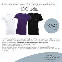 100 camisetas baratas con logotipo o nombre de color blanco o color, estampación de camisetas para empresas ,grupos,eventos