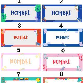 stickers pegatinas escolares infantiles personalizadas con nombre