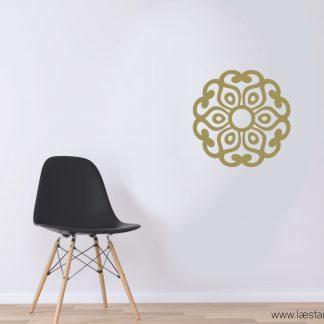 vinilo decorativo mandala oro
